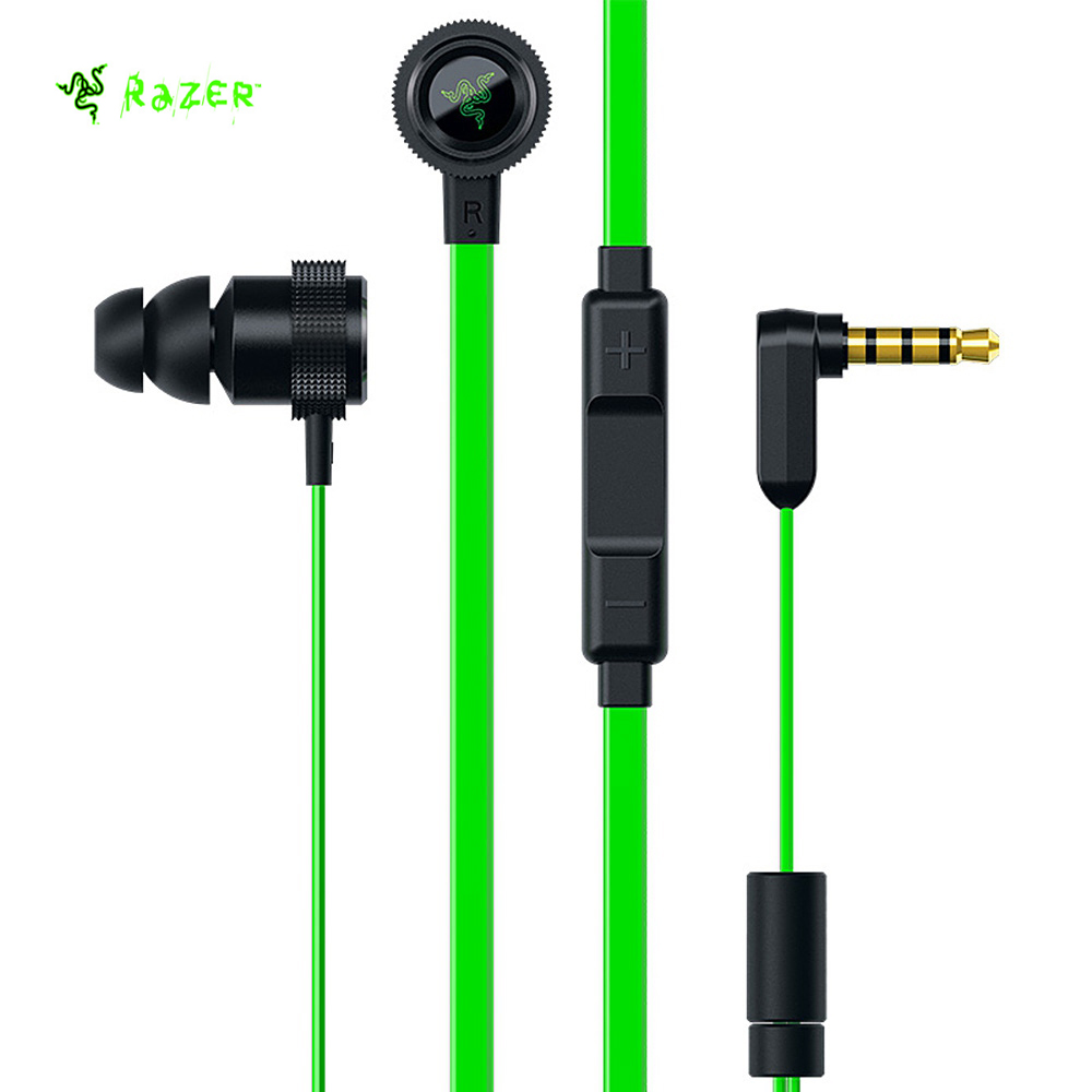 Original Razer Hammerhead Pro V2 In ear earphone with Omnidirectional Microphone Flat Style Cables 10mm drivers with microphone