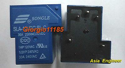 10pcs T90 Coil Relay 5VDC 30A 250VAC 30VDC 6 pin 1NO 1NC SLA-05VDC-SL-C PCB Type