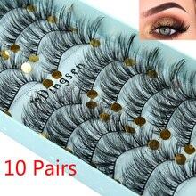 10 paires 3D Faux vison cheveux Faux cils moelleux vaporeux multicouche Flutter cils Faux vison cils Extension outils de maquillage