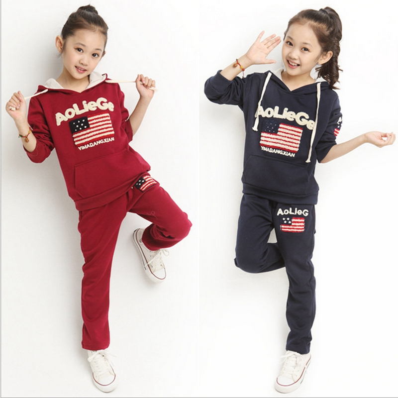 Children Sport Clothing  2017 New Spring  Kids Girls Boys Clothing Sets Casual Active Cotton Baby Clothes Girls 2017 new casual children clothing sets baby boys baby girls 100