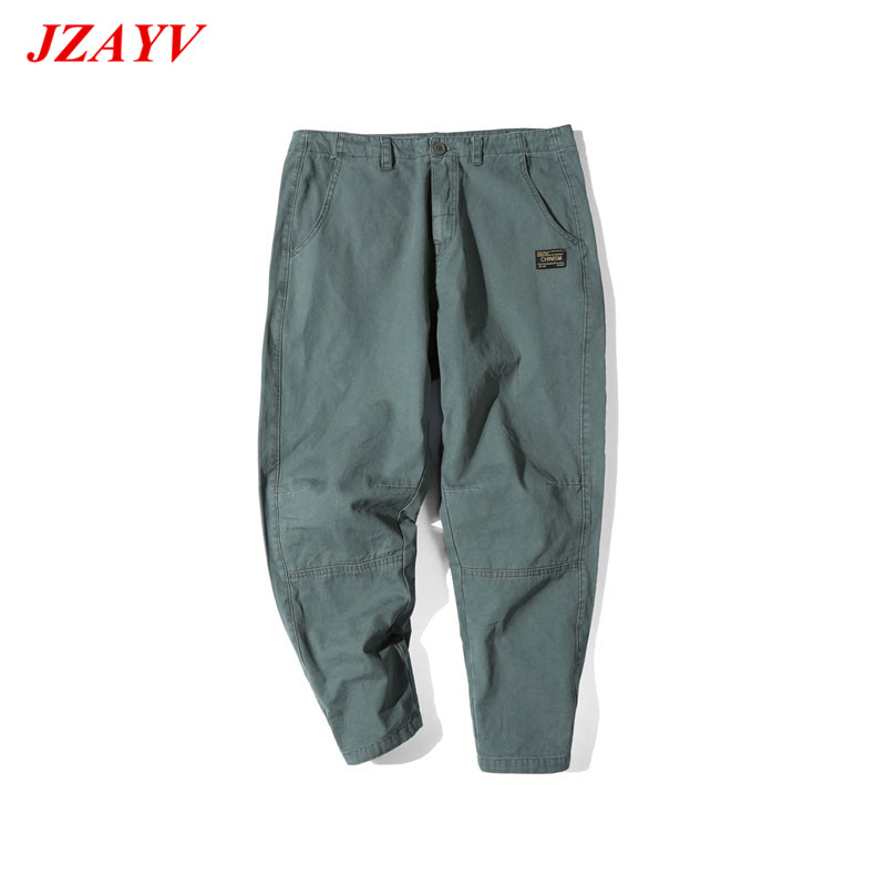 2018 New Arrival Mens Solid Pants Casual Cargo Ankle-Length Pants Military Short Trousers Man Loose Casual Bermuda Size