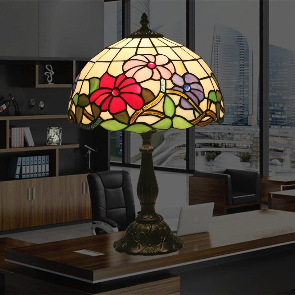 Светодиодные лампы Tiffany декоративные настольные лампы североамериканских спальня творческий исследование чтение глаз настольная лампа ба