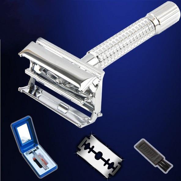 New professional 440c steel Razor + blade +brush + Case rasoir scheermes kapper houder barber razors shaving knife razor shaver