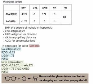 Image 4 - คู่เลนส์Anti Blue Ray Asphericเลนส์Prescriptionสายตาสั้นแว่นตาPresbyopiaเลนส์ป้องกันรังสี1.56 & 1.61 & 1.67 Index