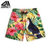 Quick Dry 3D Bird Board shorts for Men New Summer Beachwears Casual Male Swimwear Shorts Surfing Swim Trunks By Aimpact AM2121(China)