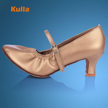 KULLA Women's Modern Latin Dance Shoes Tango Salsa Dancing Shoes Ladies Comfort Ballroom Dance Shoes Sapatos Femininos Ee Salto