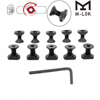WIPSON 10 Pack M-LOK Screw And Nut Replacement For MLOK Handguard Rail Sections Hunting