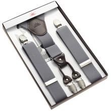 Мужские кожаные подтяжки на подтяжках серые подтяжки с бесплатной доставкой