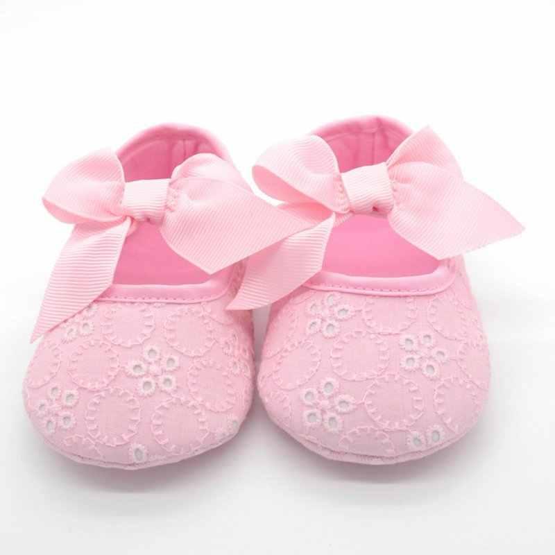 Flower 6-12m Crib Shoes Baby Girls Prewalker Pink anti skid sneaker Butterfly