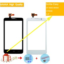 For Alcatel One Touch Scribe Easy OT 8000 8000D OT8000 Touch Screen Touch Panel Sensor Digitizer Front Glass Touchscreen NO LCD lcd for alcatel one touch flash 6042 ot6042 6042d lcd display touch screen digitizer panel assembly for alcatel one touch flash