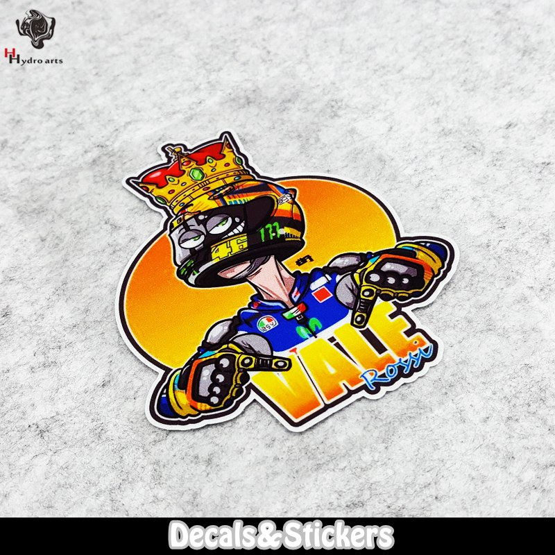 NO.LN131 Crown Vale Rossi 3M Material Reflective Stickers MOTO GP Car Sticker Decals Racing Stickers Motorcycel