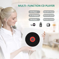 Classic Wall mounted Bluetooth Portable CD Player Home Audio Boombox with Remote Control FM Radio Built in HiFi Speakers USB MP3
