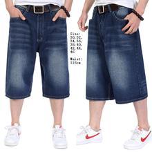 Плюс Размер 30-46 (талия 116 см) Хип-хоп джинсы света stonewashed кошачий ус мужей несвязанных 7 минут брюки