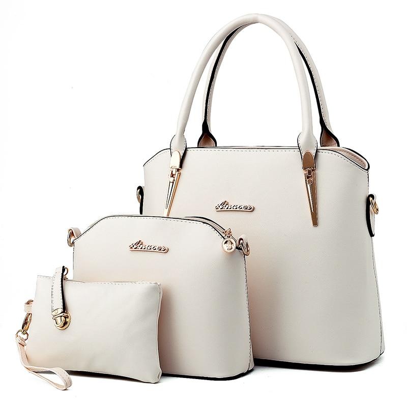 New  Fashion Pu Composite Bag Brand Women Handbag  Luxury Handbag Set Women Bags Top-handle Bags Clutch Wallet coofit luxury composite bag set women