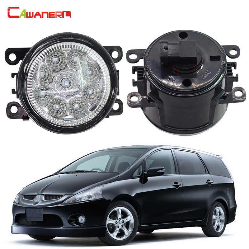 Cawanerl 2 X Auto LED Daytime Running Light Fog Light DRL 12V DC Car Styling For Mitsubishi Grandis NA_W MPV 2004-2011 cawanerl 2 x car led fog light drl daytime running lamp accessories for nissan note e11 mpv 2006