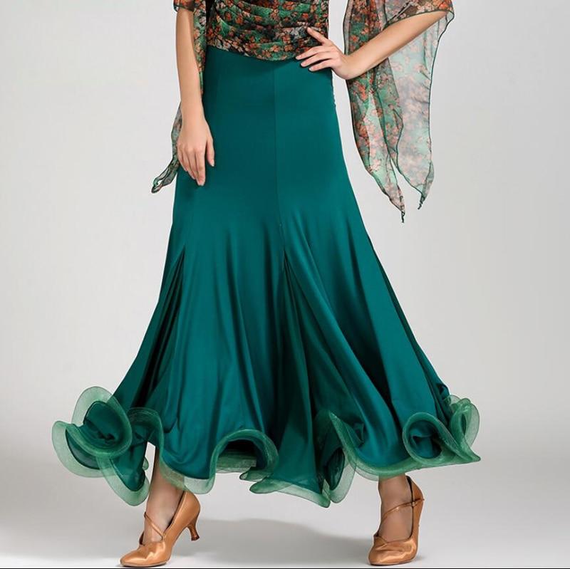 Ballroom Dance Skirt 2019 New Lady s Stage Waltz Tango Flomenco Costume Adult High Quality Ballroom