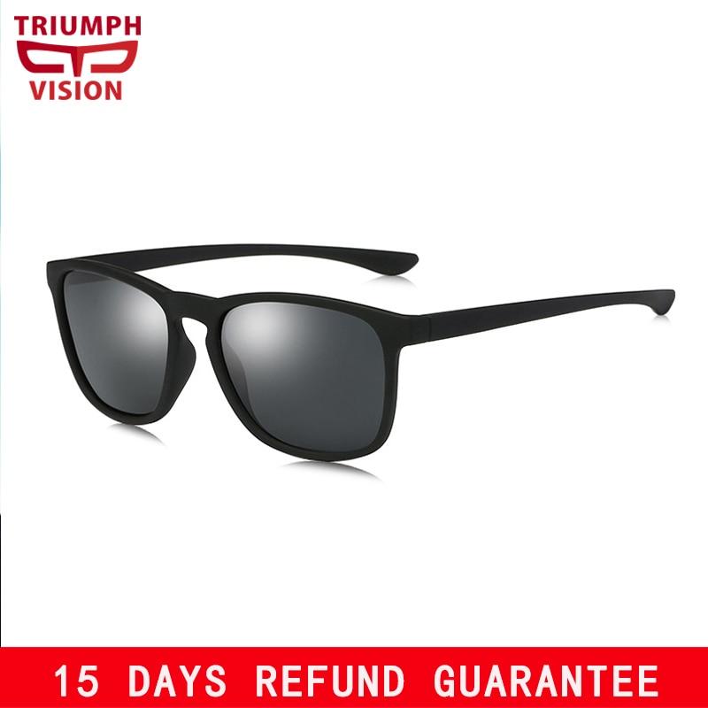TRIUMPH VISÃO Areia Preta Dos Óculos De Sol para Homens Polarizada HD UV400  Proteção Óculos de c1928b8190