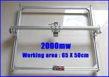 2000 МВТ ЧПУ лазерная гравировка машины лазерной резки машина гравировка площадью 50 х 65 см Мини лазерный гравировальный станок гравировальный станок скорость