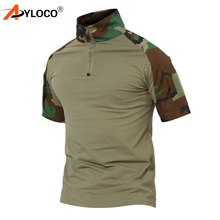 Tactical Short Sleeve Combat Hiking T-Shirt Men Multicam Camouflage US Military Clothing Camo T Shirt Paintball Airsoft T-Shirt emersongear tactical short sleeve t shirt lightweight soft airsoft military army training shirt outdoor hunting camping clothing