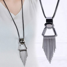 Collier Femme Vintage Necklaces & Pendants Fashion Jewelry Statement Tassels OL Long Necklaces for Women Female Sweater Chain