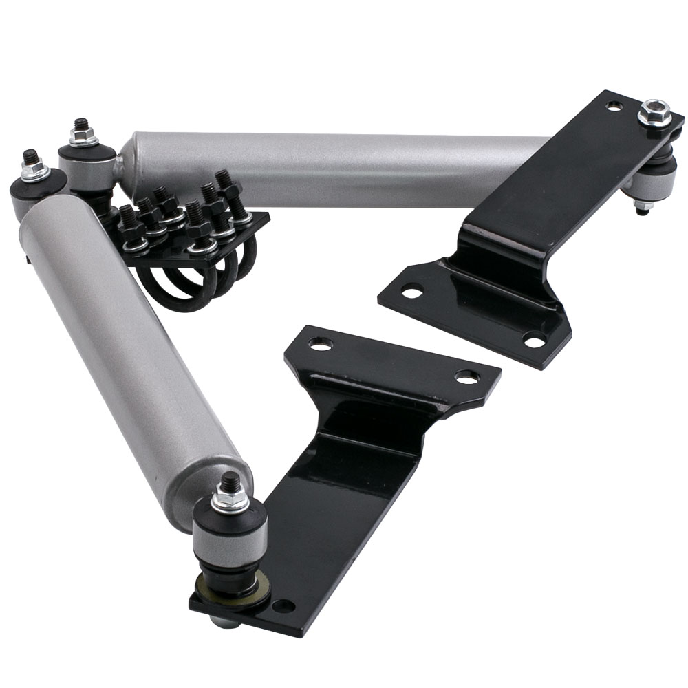 Dual Steering Stabilizer Kit For Ford F250 F350 Super Duty Dual Steering Stabilizer 1999 2004 4WD