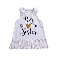 Summer Baby Girls Sleeveless Dress Summer Holiday Tassels Cotton Vest Dress