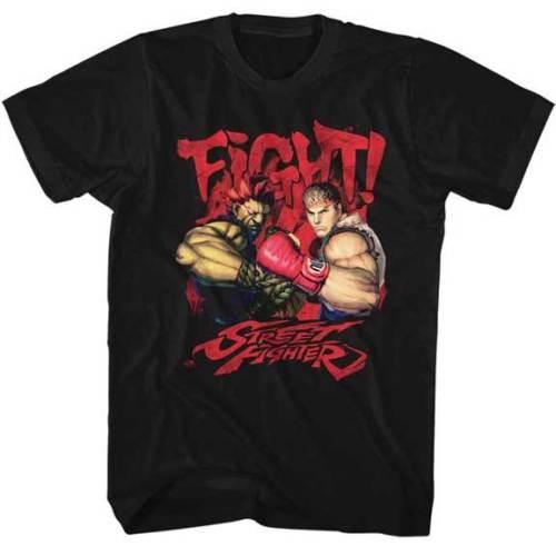 Street Fighter Capcom Игры Борьба Взрослых Майка Шею O T shirt