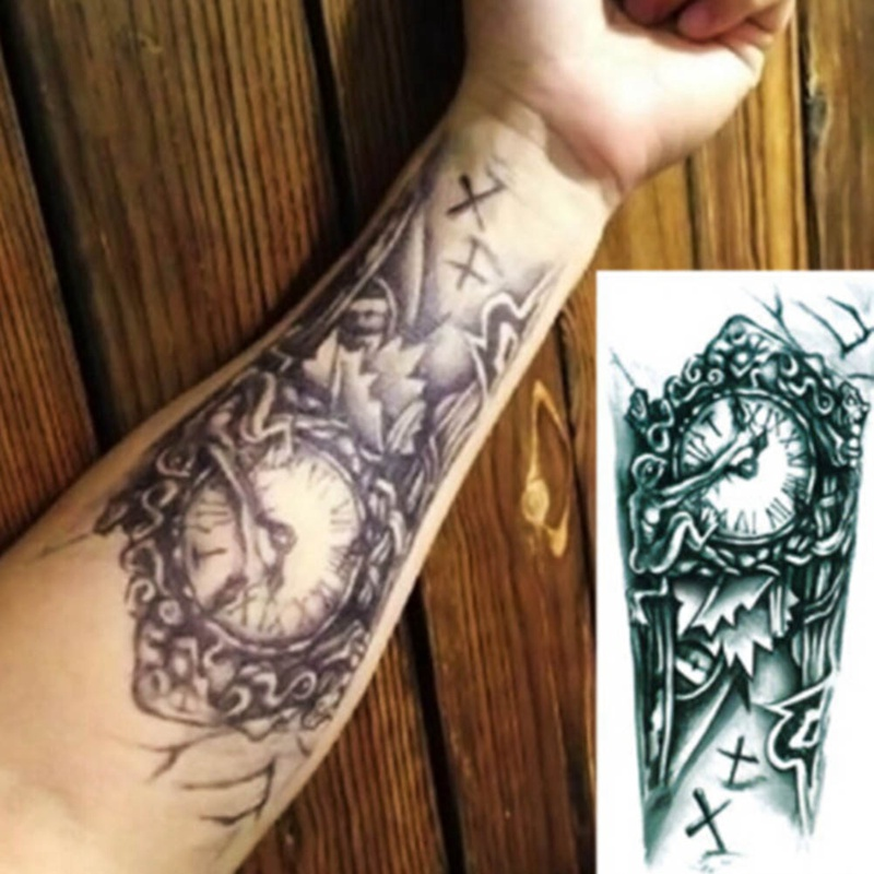 23868eb6f4282 Temporary Tattoo Sleeve Designs Full Arm Waterproof Tattoos For Cool Men  Women Transferable Tattoos Stickers On