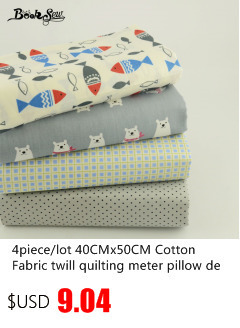 Booksew текстиль темно-зеленый хлопок льняная ткань швейный материал Tissu скатерть подушка сумка занавеска подушка Zakka Dots Дизайн
