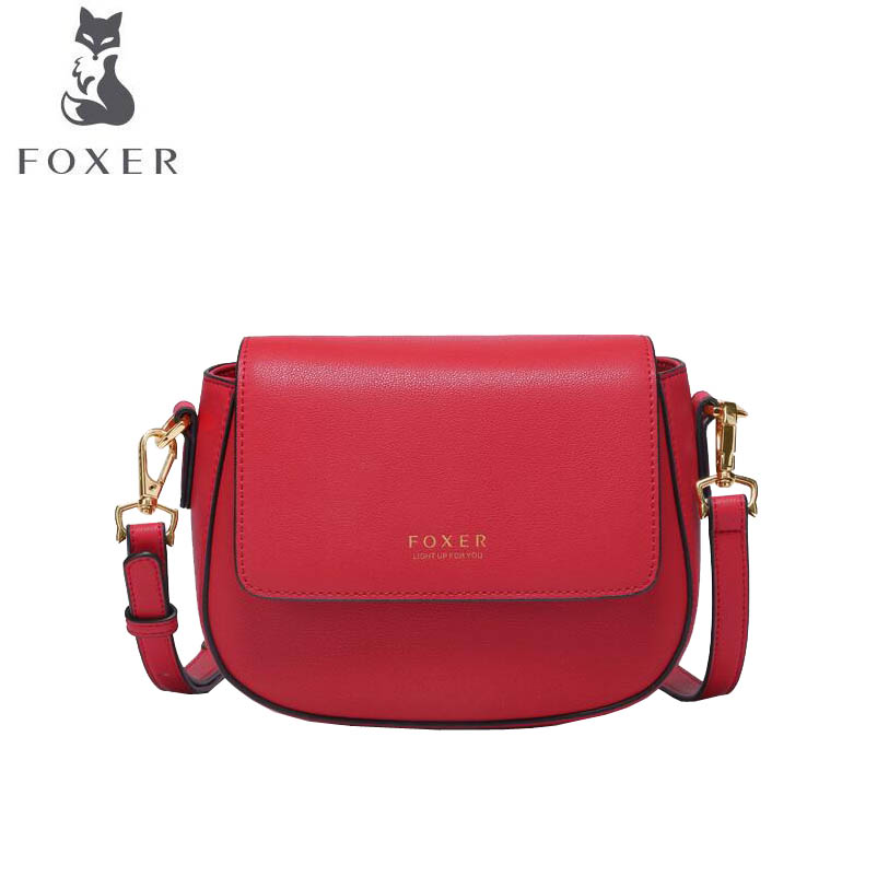 купить FOXER 2018 New women Leather bag fashion luxury handbags women famous brand designer Simple women leather Shoulder Crossbody Bag по цене 4600.03 рублей