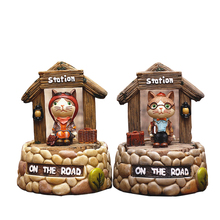 Modern Cartoon Animal Model Mechanism Music Box Study Animal Rotation On Music Box For Student Kids Birthday Resin Music Box