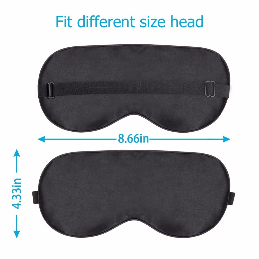 Mulberry Silk Mask Sleep EyeShade Eye Mask Blindfold Shield Cover Travel Sleep Rest Aid Eye Care Tool Business Trip Relax Gadget 4