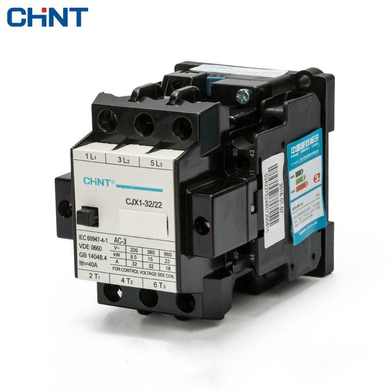цена на CHINT Communication CJX1-32/22 3TB44 AC Contactors Power Electric 380v 220v 110v 36v 24v Motor Coil