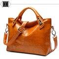 Hot Sale New 2016 Fashion Brand PU Leather Handbag Women Vintage Tote Cow Shoulder Messenger Bag B-8825