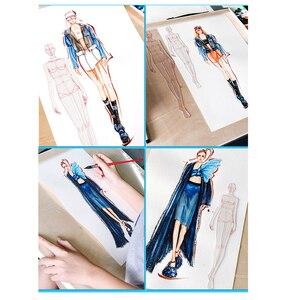 Image 4 - Thiết Kế thời trang Người Cai Trị Vải Thiết Kế Đường Vẽ Trang Phục May Nguyên Mẫu Người Cai Trị Con Người Năng Động Tiêu Bản Cho Học Sinh Trường Vẽ