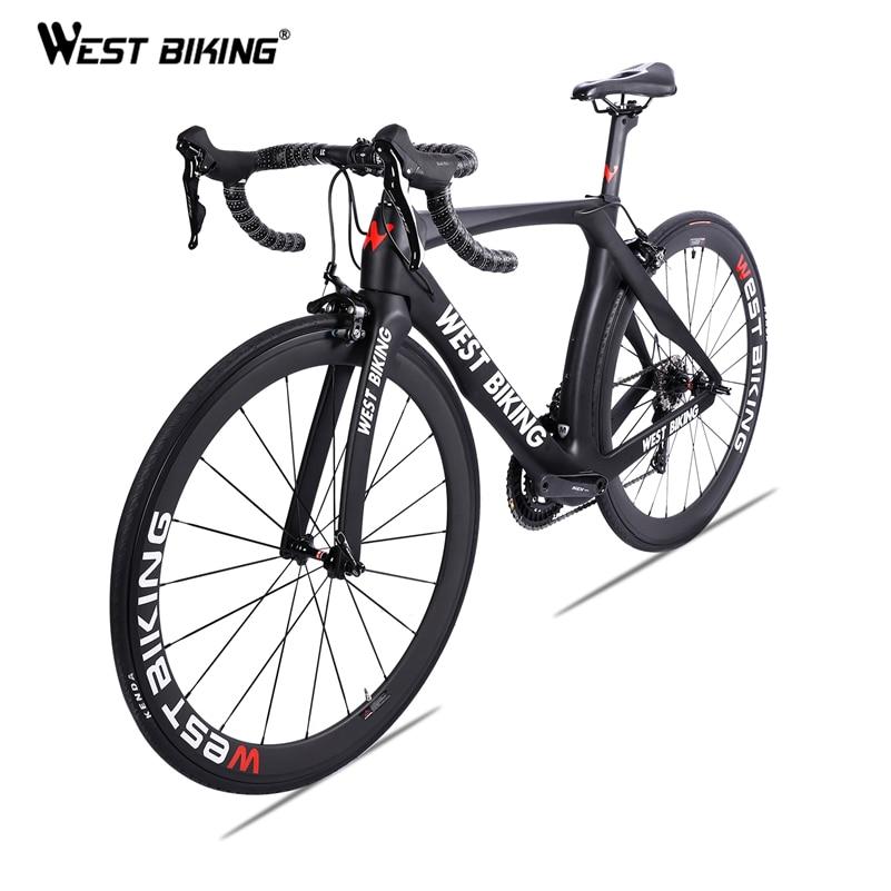 Vélo de route en carbone WEST Bike 700C 22 vitesses vélo complet en Fiber de carbone avec vélo de course ultraléger SHIMANO 105 R7000 Bicicleta