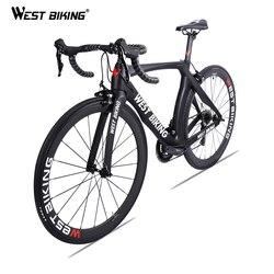 WEST BIKING Carbon Road Bike 700C 22 prędkości z włókna węglowego kompletny rower z SHIMANO 105 R7000 Bicicleta Ultralight rower wyścigowy