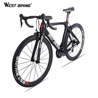 WEST BIKING Carbon Road Bike 700C 22 Speed Carbon Fiber Complete Bicycle With SHIMANO 105 R7000 Bicicleta Ultralight Racing Bike