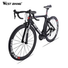 Zachód jazda na rowerze rower szosowy węgla 700C 22 prędkości z włókna węglowego kompletny rower z SHIMANO 105 R7000 Bicicleta Ultralight rower wyścigowy tanie tanio West Biking Unisex Mężczyźni 150-180 cm As picture Wiosna wideł (niska biegów bez tłumienia) Zwyczajne pedału About 8kg