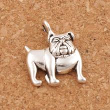 English Bulldog Charm Beads 13x16.8mm 300pcs Tibetan Silver Pendants Jewelry DIY Fit Bracelets Necklace Earrings L108 цена 2017