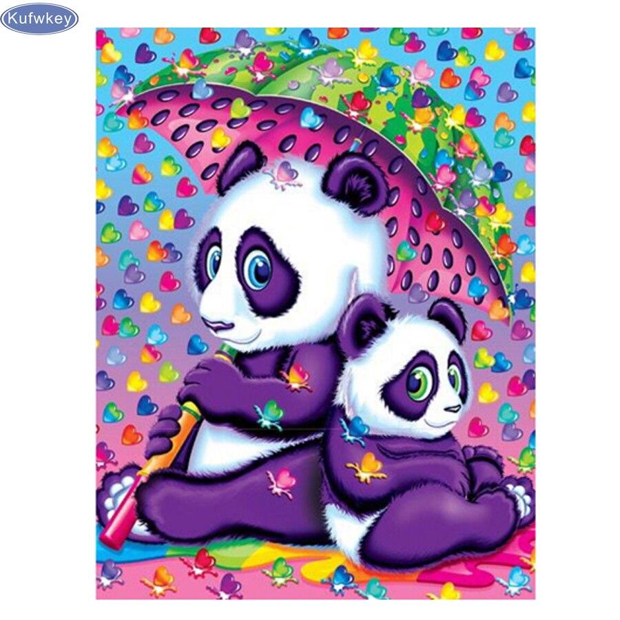 Needlework 3D DIY Diamond Painting cute panda baby,Full Diamond Embroidery Cross Stitch cartoon animals Painting Home Decoration