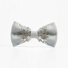 Creative bow tie Gray Metal Handicraft Ties fashion Wedding Groom Groomsman gifts for men Bowtie Men's suits Apparel accessories fashionable light gray knitted bow tie for men
