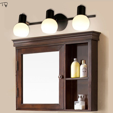 Nordic Mirror Light Wall Lamp E14 LED Art Makeup Aisle In Front of Mirror Bathroom Toilet Study Dining Creative Cabinet Lamp american mirror lamp bathroom led retro mirror headlight bathroom toilet mirror cabinet lamp dresser lamp wall lamp
