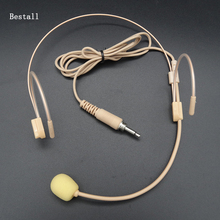 Bestall 1 шт. Pro головной конденсатор гарнитура микрофон для караоке беспроводной корпус-пакет передатчик 3,5 мм Винт запирающий штекер