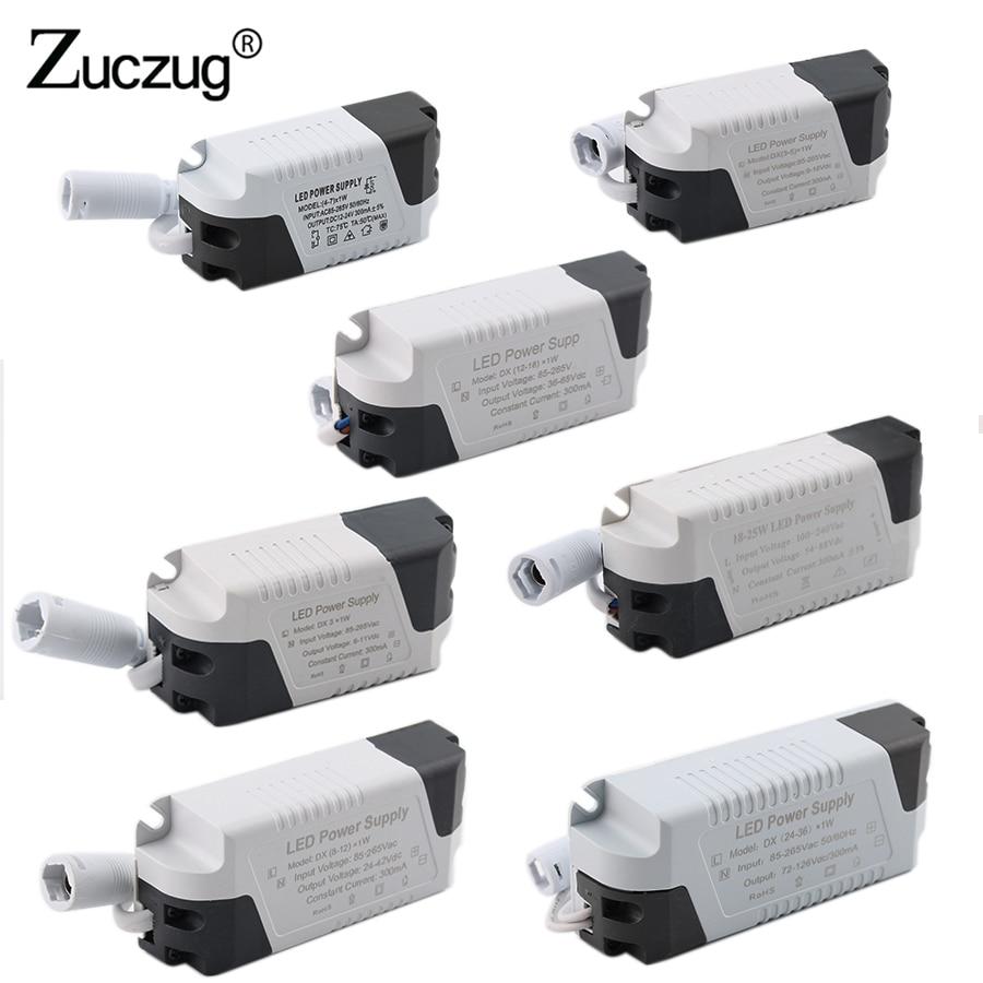 Led Driver 24V - 12V Power Supply Adapter 1W-36W Lighting Transformer AC 220V  To 12V DC Power Supply Led Driver Lamps Strip
