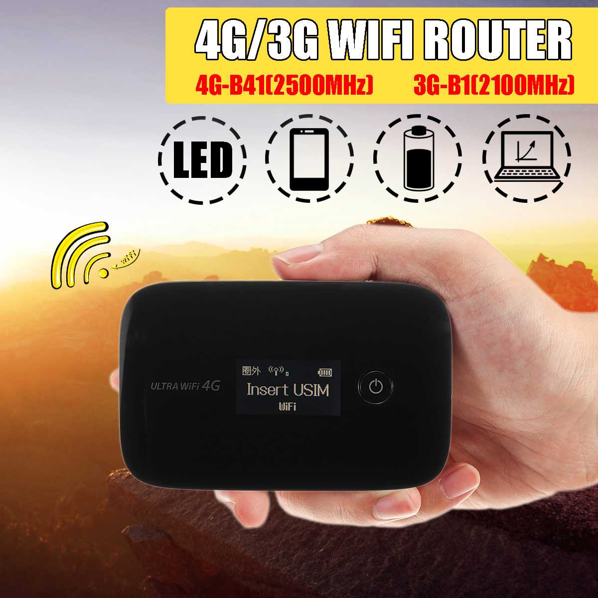 LEORY Lte Pocket Wireless Wifi Router Car Mobile Wifi