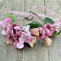 Mulheres headband do coroa de flores de simulação Rattan simulação cabeça de flor do casamento festival crianças flor da coroa
