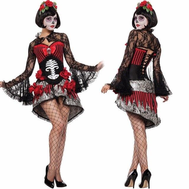 ladies broken dead doll halloween fancy dress costume outfit skeleton bride costume halloween ladies fancy dress