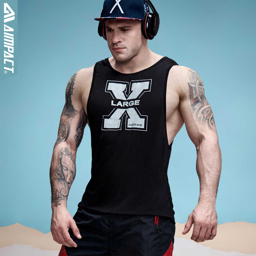 f1f967599 Aimpact Men's Vivid Tank Tops Low Cut Armholes Vest Sexy Casual Men Workout  Tees Xman Muscle