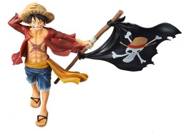 Аниме фигурка Луффи с пиратским флагом Ван Пис 22 см 2